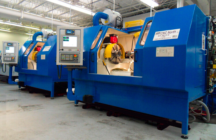 Two CNC North grinders