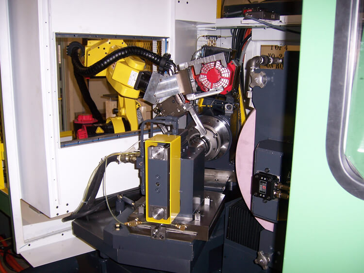 CNC North integrated Fanuc robot showing workspace.